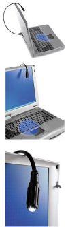 Dicota Spot Лампа осветительная для ноутбука, Dicota , подключение USB-порт, гибкий кабель 38 см,  USB1.1, черный, вес 30 г