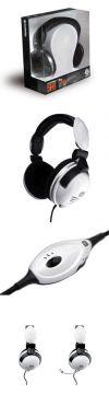 комплект профессиональный игровой 61009: наушники и микрофон SteelSeries 5H v2 белые
