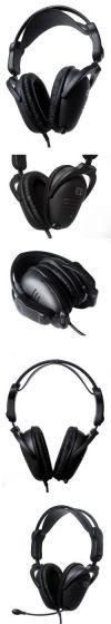 комплект профессиональный игровой 61008: наушники и микрофон SteelSeries 3H USB черные, складные